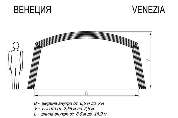 павильон для бассейна Венеция